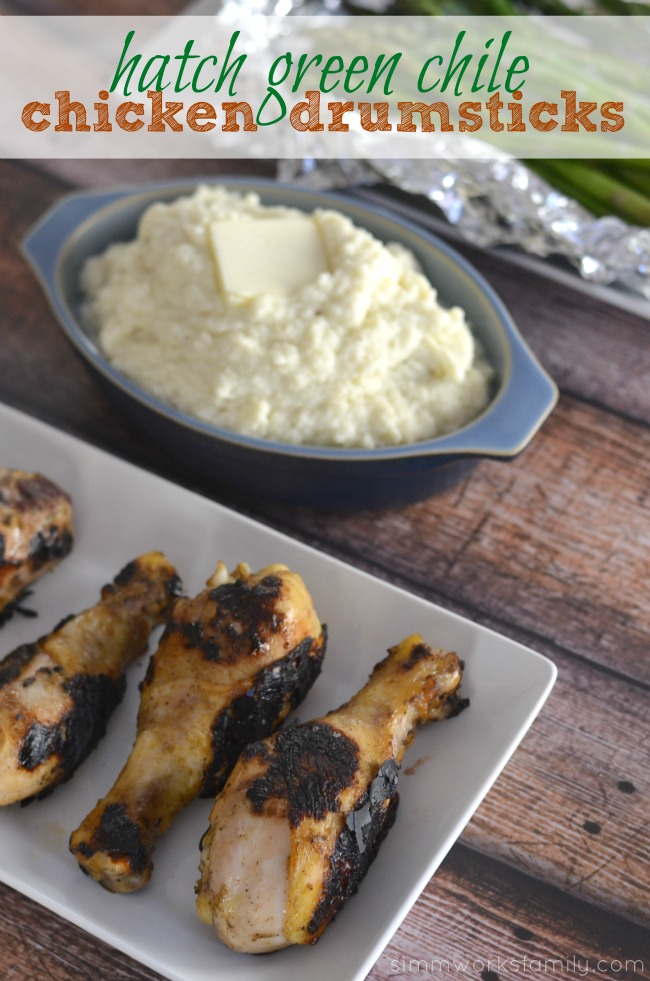 Keto Friendly Grilling Meals- Hatch Green Chile Chicken Drumsticks