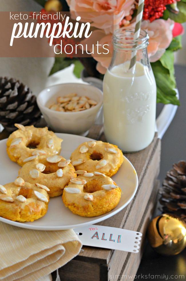 Keto Friendly Pumpkin Donuts