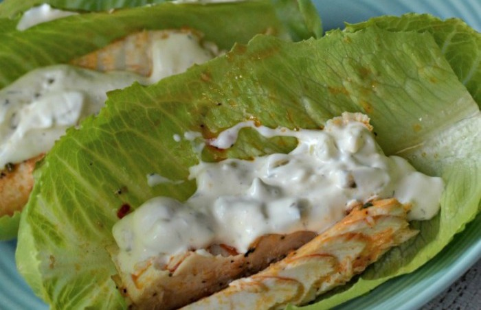 Lettuce Wrapped Mahi Mahi Tacos - a quick and delicious low carb meal