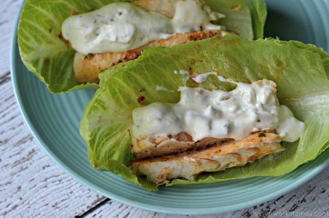 Lettuce Wrapped Mahi Mahi Tacos - delicious low carb dinner