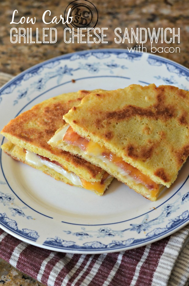 Low Carb Grilled Cheese Sandwich with Bacon